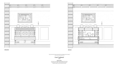 H:UniDesignArch scale furnitureCupboard Elev and sect Layout