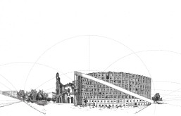 Curvilinear perspective final housing
