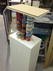 Ruby's coke can plinth